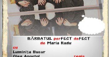 """Comedia """"Bărbatul perfect defect"""" – Regia Radu Gabriel"""